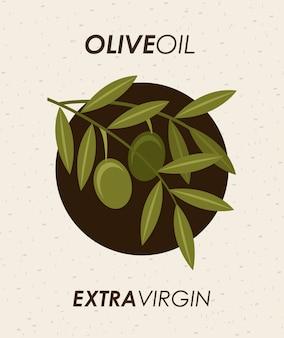 Olives design sur illustration vectorielle fond beige