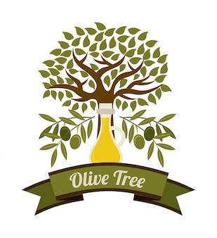 Olives design sur illustration vectorielle fond blanc