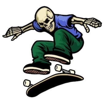 Ollie de saut de patineur de crâne