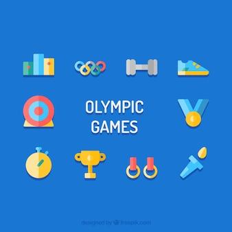Olympique éléments vectoriels