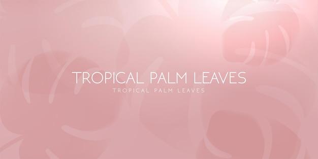 Ombre de feuille de palmier tropical sur fond pastel clair. illustration vectorielle.