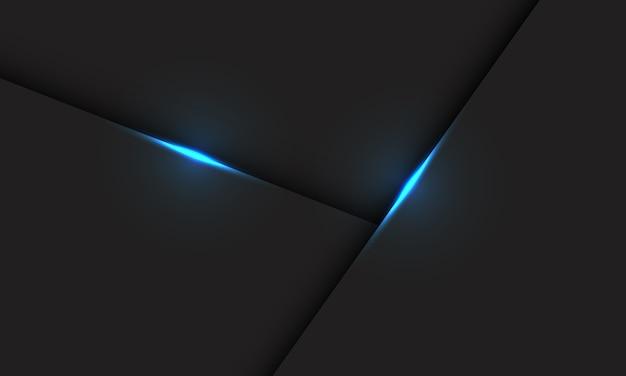 Ombre de ligne de lumière bleue abstraite sur la technologie futuriste moderne de conception grise.