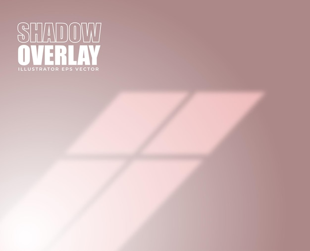 Ombre overlay effet cadre fenêtre sur fond couleur pastel