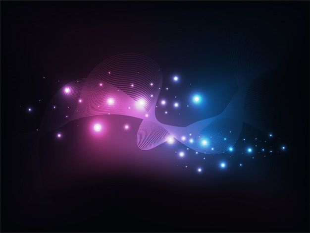 Onde abstraite avec effet lumineux brillant.