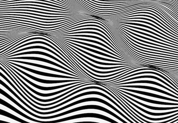 Onde de lignes abstraites. motif à rayures ondulées. illustration vectorielle