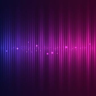 Onde sonore avec effets de particules