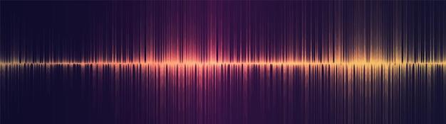 Onde sonore de l'égaliseur doré panoramique