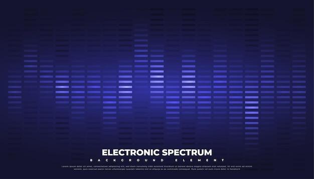 Onde sonore ou fond d'égaliseur de musique.