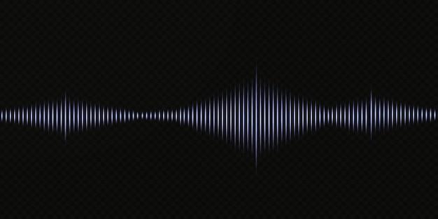 Onde sonore sur fond transparent