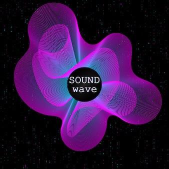 Onde sonore. forme fluide dynamique. vagues de musique.