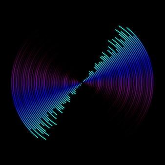 Onde sonore multicolore du fond de l'égaliseur