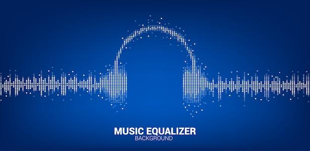 Onde sonore musique fond d'égaliseur