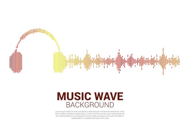 Onde sonore musique fond d'égaliseur.
