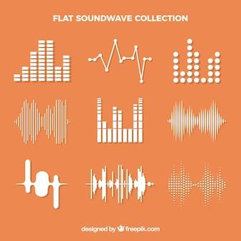 Les ondes sonores décoratives dans un design plat