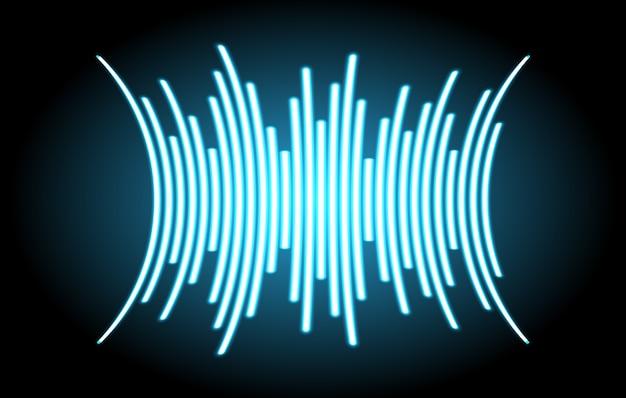 Ondes sonores oscillant de la lumière bleue foncée