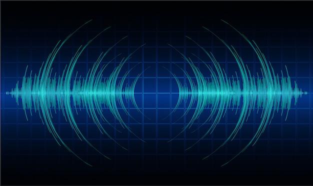 Ondes sonores oscillant une lumière noire sombre