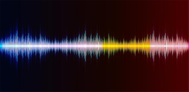 Ondes sonores oscillant la lumière sombre