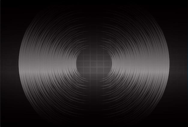 Ondes Sonores Oscillant Lumière Sombre Vecteur Premium