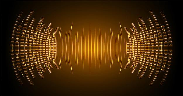 Ondes sonores oscillant lumière sombre