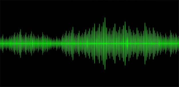 Ondes sonores oscillantes vert foncé