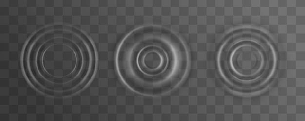 Ondulation, éclaboussure de surface de vague d'eau d'une goutte.