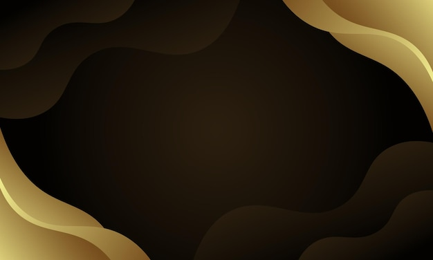 Ondulé doré sur fond sombre. conception pour le site web.