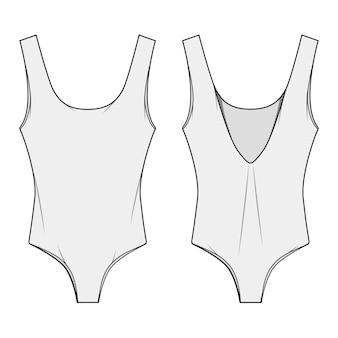 One piece swim suit modèles de modèles plats