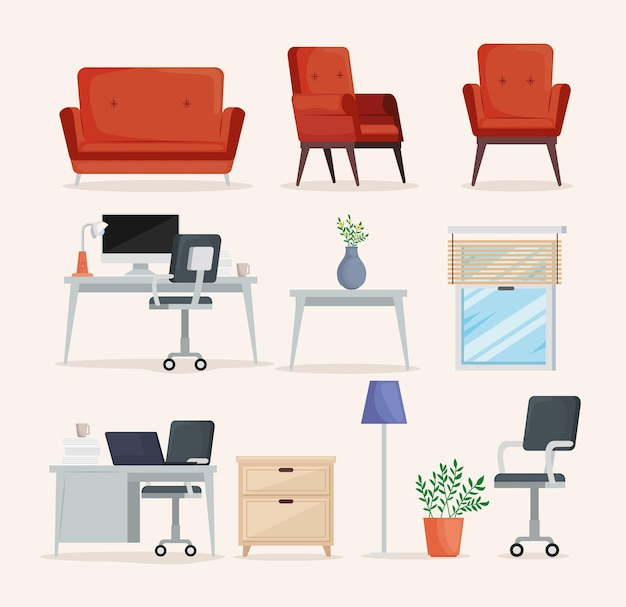 Onze icônes d'espaces d'accueil