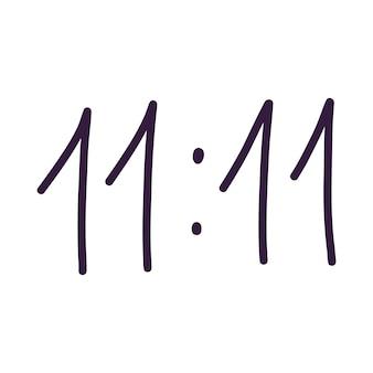 Onze nombre magique. élément de design ésotérique et mystique. illustration vectorielle dessinés à la main.