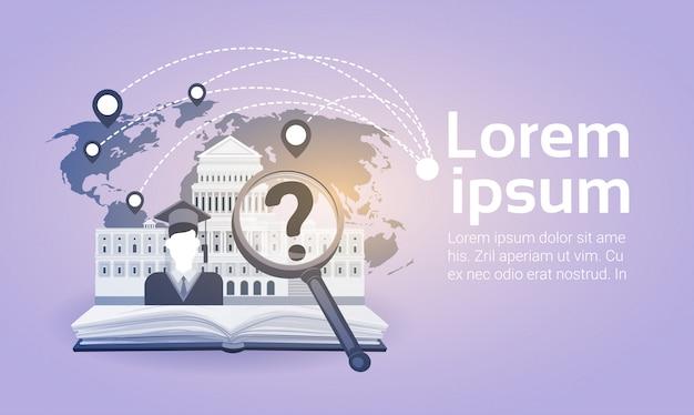 Open book law library lire l'école concept de connaissances sur l'éducation
