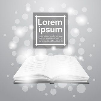 Open book library lire le concept de connaissances sur l'éducation scolaire
