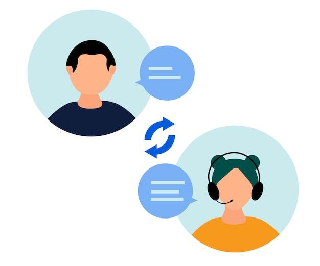 Un opérateur de ligne d'assistance téléphonique conseille le client
