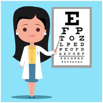 Ophtalmologiste femme médecin