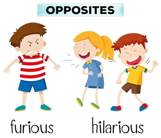 Opposés furieux et hilarants