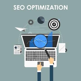 Optimisation du référencement, processus de programmation et éléments d'analyse web