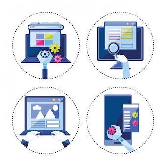 Optimisation des moteurs de recherche icônes définies