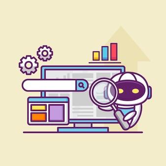 Optimisation des moteurs de recherche avec un robot mignon