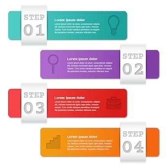 Option de modèles d'infographie, pièces, étapes. affaires .