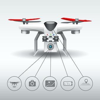 Options drone quadrocopter.