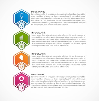 Options infographie, chronologie, modèle de conception.