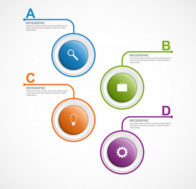 Options d'infographie modernes.