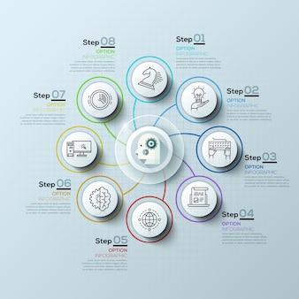 Options d'infographie en spirale modernes