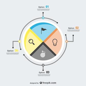 Options infographiques libres conception ronde