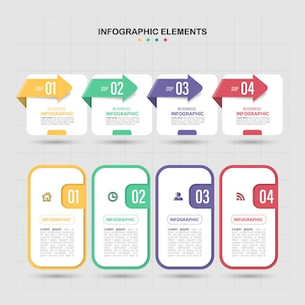Options de modèle infographique moderne 4.