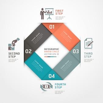 Les options de style origami des étapes commerciales abstraites peuvent être utilisées pour la mise en page de flux de travail, le diagramme, les options de numéro, les options de renforcement, la conception web, les infographies.