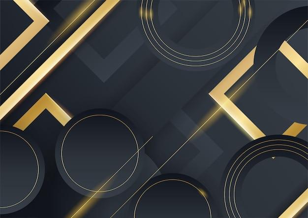 Or abstrait sur la texture métallique noire avec la conception de texte simple illustration vectorielle de luxe moderne fond futuriste