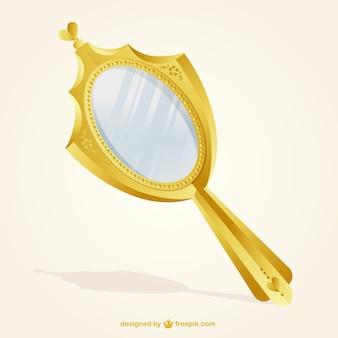 Or Miroir Isolé Vecteur Premium