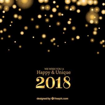 Or et noir nouvel an 2018 fond