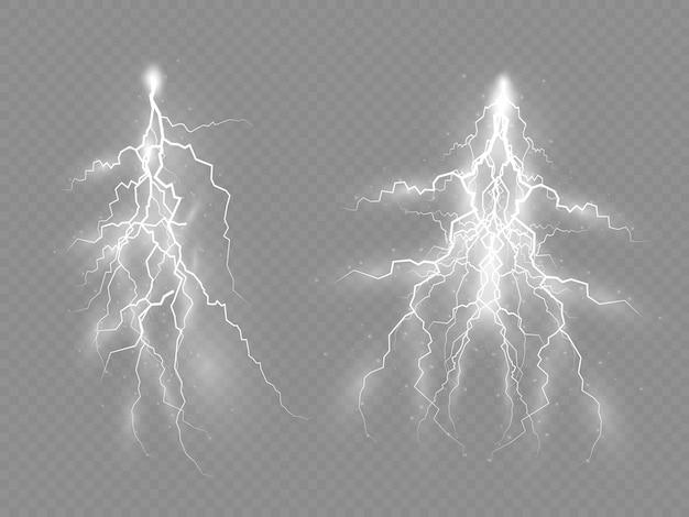 Orage et éclair, effet de la foudre, de l'éclairage, de la lumière et de la brillance, fermetures à glissière