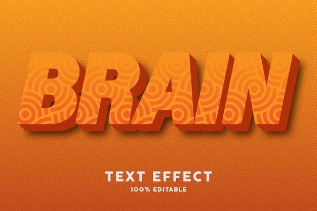 Orange 3d avec effet de texte de modèle sans couture de cercle